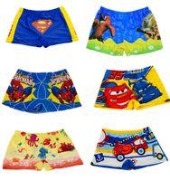 Cheap 2015 Hot Sales Kids Swimwear Boy Swimming Trunks Cute Cartoon Swimming Boxers for kids From 5 to 10 years old Spideman Superman Swimwear