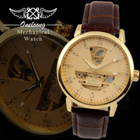 Wholesale Brand Oneloong High Quality Mechanical Automatic Luxury Wristwatches Skeleton Analog Display Men s Business Watches Leather Belt Colors