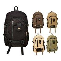 army rucksack for sale - Hot Sale Outdoor Men Women s Vintage Canvas Backpack Unisex Rucksack School Bags for Teenagers Satchel Hiking Bag