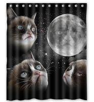 bathroom universe - Space Cat And Glaxy Star Universe custom Shower Curtain Bathroom decor x72 quot x72 quot x72 quot x72 quot