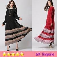 Wholesale 2015 Hot Selling Muslim Women Long Dress Arab women robe with Rainbow Chiffon Muslim Ethnic Clothes Item No