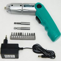 Wholesale New v foldable cordless electric screwdriver regargeable power drill screwdriver tools