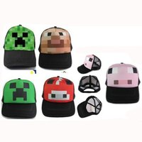 Cheap Latest fashion cool Minecraft Creep snapback cap boys and girs My World ball caps sports travle hiking cycling sun hat 6 styles available