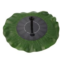 Wholesale Solar Lotus Leaf Water Pump For Fountain Pool Garden Pond Watering Decor Green Brand New