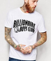 Wholesale Hot Sale Mens BILLIONAIRE BOYS CLUB T Shirt men Letter BBC T Shirt Hip Hop T shirt bbc billionaire boys club T shirts Quality