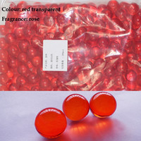 Rose bath oil pearls - Hot OEM g Red Round shaped Bath Oil Beads Rose Fragrance Bath Pearls SPA Oil