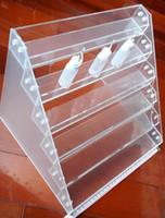 display stand acrylic display box - Electronic Cigarette Display Stand E Cigarette Detachable Rebuildable Exhibition Shelf For E Cig Box Mod Eleaf istick E Liquid Acrylic Case