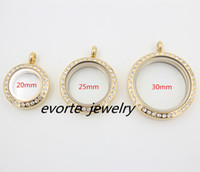 stainless steel charms - High Quality Twist Open Gold with crystals mm mm mm L Stainless Steel Glass Pendant Floating Charms Living Locket