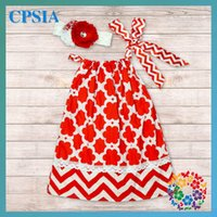 chevron clothing - 2015 new Design Kid Dress Soft Baby Cotton Frock Chevron Pillowcase Dress Clothing Boutique
