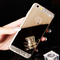 rhinestone cell phone cases - Luxury Bling Mirror TPU Soft Gel Cell phone case skin cover for Apple iPhone S Plus