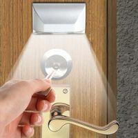auto door sensor switch - Auto PIR Door Keyhole Motion Sensor Detector LED Light Lamp Silver For AA battery Leds Led Sensor Motion Lamp NightLight