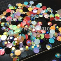 Wholesale Many colors mixed Magic color AB jelly mm mm resin rhinestones Nail Art Mobile phone stick drill SS20 ss30