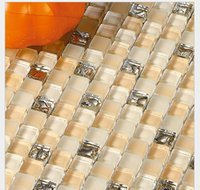 Wholesale Multicolor glass Mosaic glass kitchen wall brick Mosaic glass bathroom tile stone Mosaic tiles