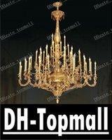 Wholesale Lamp luxury Nobel Top grade Lights solid brass chandelier for high ceilings chandelier light for hotel chandelier lamps