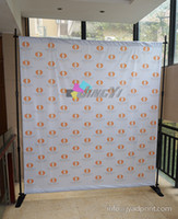 Display Backdrop banner 230gsm Fabric banner Heat transfer printing Telescopic backdrop stands Banner stands Adjustable background display stand 2pcs banner with free shipping