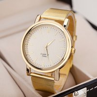 Wholesale 2014 New listing matte gold dial ladies quartz watch fashion women dress watch