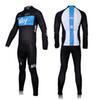 big better - 2016 Sky Men Winter Bicycle Jersey Suits Stylish Black Long Sleeves and Trousers Big Order and Better Price