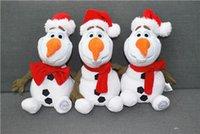 Cheap 30cm Frozen Sorbet Christmas snowman plush toy doll doll doll Plush toy stuffed doll for kids gift DHL Free Shipping