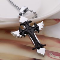 rosary for man - New Silver Saint Jesus Christ Plated catholic Cross Angel Wing pendant Rosary Necklace For Women Men