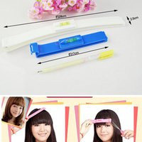 Wholesale 2pcs sets Pro Home DIY Hair Cutting Guide Layers Bang Styles Scissors Bangs Personal Hairdressing Cutting Styling Tools ND055