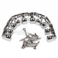 Wholesale Set Guitar Roller String Trees Chrome for Electric Guitar Parts with Screw