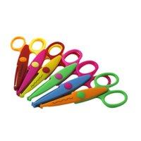Wholesale 6Pcs Creative Stationery Tool Album Photos Card Paper Craft DIY Lace Scissors