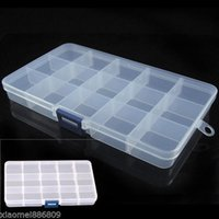 bead storage - Plastic Slots Jewelry Adjustable Tool Box Case Craft Organizer Storage Beads