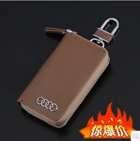 Wholesale 2014 hot freeshipping car key case High quality yak skin car keys package all car models can be used bag
