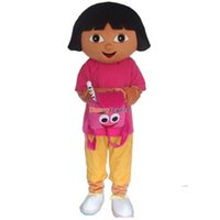 dora mascot - Fancytrader Real Pictures Hot Sale Dora The Explorer Mascot Costume Dora Mascot Costume EPE Head with Helmet FT20086