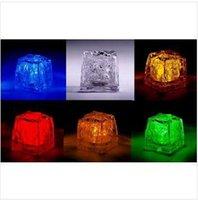 Wholesale Water sensor activated led ice cubes crystal wedding celebration LED ice cubes