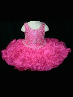 Cheap 2015Pink Flower Girls' Dresses Charming Beaded Jewel Embellished Bodice Dropped Full Organza Skirt Ruffles Girlie Baby Pageant Dress#P120619