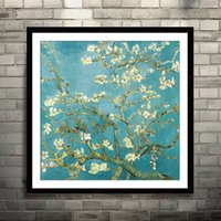 Wholesale Full Embroidery Cotton Silk Cross Stitch Living Room world famous Oil Painting Van Gogh Apricot Flower DIY Sewing Kits Study Bedroom Dinning