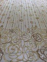 Wholesale 2015 neue design goldene farbe polyester hand druck blumenmuster stoff für sägen party tuch design durch dhl