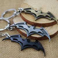 souvenir keychain - Batman Movie Keychain Super Hero Superhero Key Chain Key Ring Holder Keyring Porte clef Gift Men Women Souvenirs F