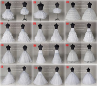 Wholesale 10 Style Cheap White A Line Ball Gown Mermaid Wedding Prom Bridal Petticoats Underskirt Crinoline Wedding Accessories Bridal slip Dresses