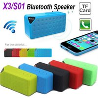 Wholesale S01 X3 OY Mini Portable Wireless Bluetooth Speaker HIFI Car Handfree with MIC Micro SD Loud Subwoofer Music MP3 Player for iPhone Plus S5