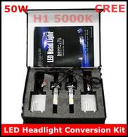 Wholesale New H1 W K LED Headlight Conversion Kit CREE Watt LEDs Bulb