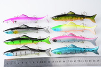 Wholesale 3 Jointed link Fishing Bait Deep sea fishing Minnow Rap spinner Plastic bait Colors CM G JM009