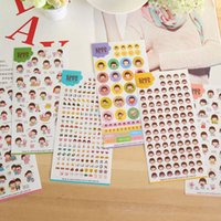 Wholesale 6 sheets Cute Diary Stickers Decoration Stickers Transparent PVC Stationery Book Stickers Decoration