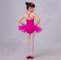 Wholesale 300PCS HHA731 kids ballet dresses pageant tutus Spaghetti Strap girls dance party dress ballet tutu for children candy color