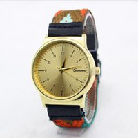 allied glass - 2016 New Gold Color Dial Ally case geneva watch fashion women bracelet watches Casual ladies dress wrist watches colors bands