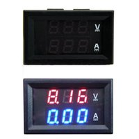 Wholesale The Best Price For DC V A Voltmeter Ammeter Blue Red LED Amp Dual Digital Volt Meter Gauge