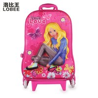 Wholesale Robbie King factory children s cartoon universal wheel trolley bag student bag pupil rod