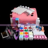 acrylic mold kit - W Pink V UV lamp Acrylic Nail Art Mold Display r Dish Tool Manicure Salon Decor Kits D New