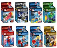 Wholesale New Super Heroes crystal Building Blocks minifigures figures style
