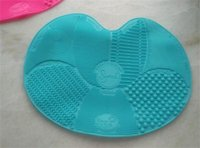 cosmetic pads - SGM SPA BRUSH CLEANING MAT Washing Brush Silica Cosmetic Clean Tools Silicone Wash Pad Makeup Brush To Clean Pad