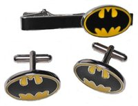 best batman comics - DC Comics BATMAN Logo CUFFLINKS and TIE CLIP Set For Shirt Best gift Fashion Jewelry W397