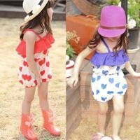 best cargo pants for women - The Best Price For Girls Kids Harem ShortsTrousers Chiffon Heart Pattern Jumpsuit Romper