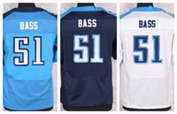 bass shorts - Factory Outlet New David Bass Men Elite Football Jersey stitched Bass Mix Order size M XL navy blue light blue white jerseys