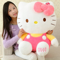 Wholesale 68CM Giant Big High quality Cartoon Hello Kitty Plush toy Plush Stuffed Hello Kitty Xmas Valentine gift